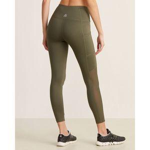 Reebok  Army Green High Waist Pocket 7/8 Leggings